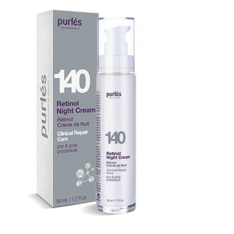 140 retinol night cream purles